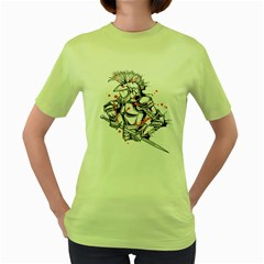 Captain ! Womens  T-shirt (Green) by Contest1840973
