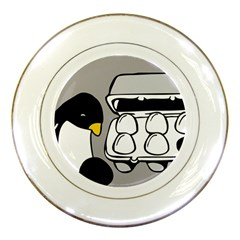 Egg Box Linux Porcelain Display Plate by youshidesign