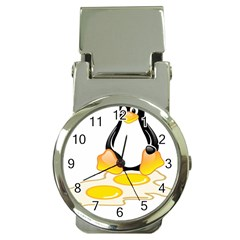 Linux Tux Penguin Birth Money Clip With Watch by youshidesign
