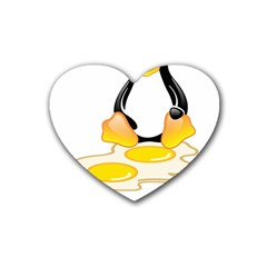Linux Tux Penguin Birth Drink Coasters 4 Pack (heart)  by youshidesign