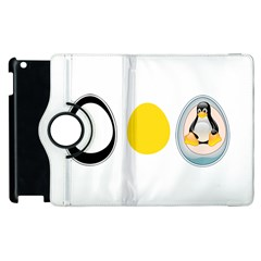Linux Tux Penguin In The Egg Apple Ipad 3/4 Flip 360 Case by youshidesign