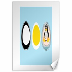 LINUX TUX PENGUIN IN THE EGG Canvas 24  x 36  (Unframed) by youshidesign