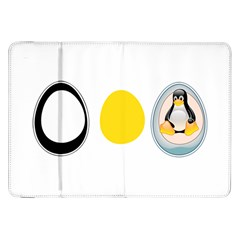 Linux Tux Penguin In The Egg Samsung Galaxy Tab 8 9  P7300 Flip Case by youshidesign