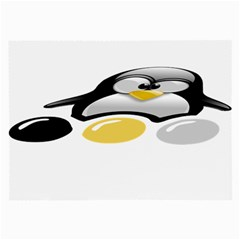 Linux Tux Pengion And Eggs Glasses Cloth (large, Two Sided) by youshidesign