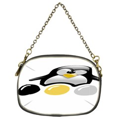Linux Tux Pengion And Eggs Chain Purse (two Sided)  by youshidesign