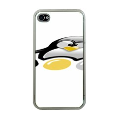 Linux Tux Pengion And Eggs Apple Iphone 4 Case (clear) by youshidesign