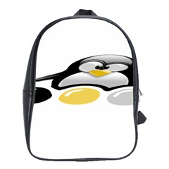 Linux Tux Pengion And Eggs School Bag (xl) by youshidesign