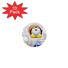 Linux Versions 1  Mini Button (10 Pack) by youshidesign