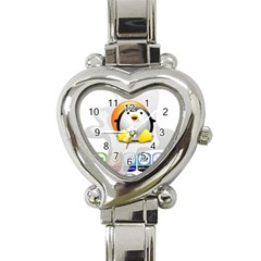 Linux Versions Heart Italian Charm Watch  by youshidesign