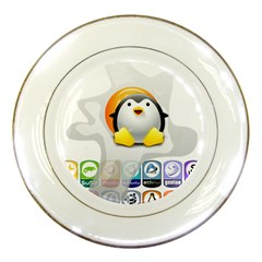 Linux Versions Porcelain Display Plate by youshidesign