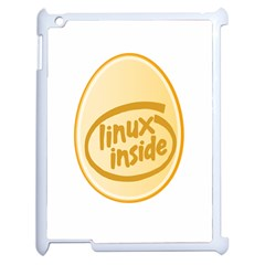 Linux Inside Egg Apple Ipad 2 Case (white) by youshidesign