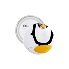 Linux Tux Pengion Oops 1 75  Button by youshidesign