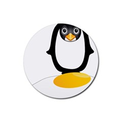 Linux Tux Pengion Oops Drink Coasters 4 Pack (round) by youshidesign