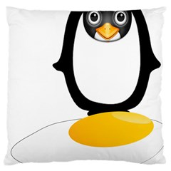 Linux Tux Pengion Oops Large Cushion Case (Two Sided)