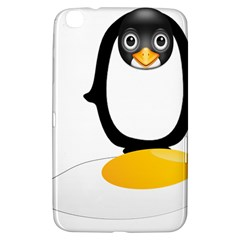 Linux Tux Pengion Oops Samsung Galaxy Tab 3 (8 ) T3100 Hardshell Case  by youshidesign