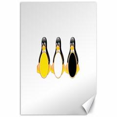 Linux Tux Penguins Canvas 24  X 36  (unframed) by youshidesign