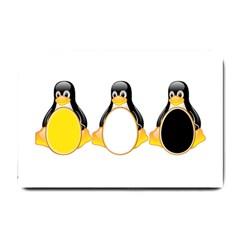 Linux Tux Penguins Small Door Mat by youshidesign