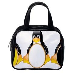 LINUX TUX PENGUINS Classic Handbag (One Side)