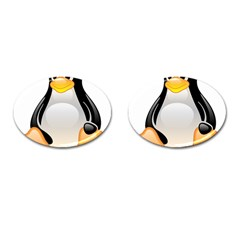 CRYSTAL LINUX TUX PENGUIN  Cufflinks (Oval) by youshidesign