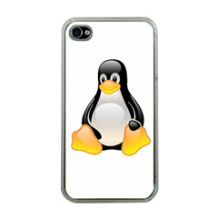Crystal Linux Tux Penguin  Apple Iphone 4 Case (clear) by youshidesign