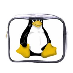 Linux Tux Contra Sit Mini Travel Toiletry Bag (one Side) by youshidesign