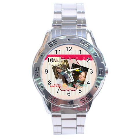 Love By Ki Ki   Stainless Steel Analogue Watch   Lqbz2w66zo78   Www Artscow Com Front