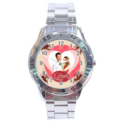 Love By Ki Ki   Stainless Steel Analogue Watch   Abt6g4vqy1cr   Www Artscow Com Front
