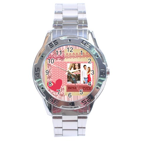 Love By Ki Ki   Stainless Steel Analogue Watch   V3pn7yxamcnj   Www Artscow Com Front