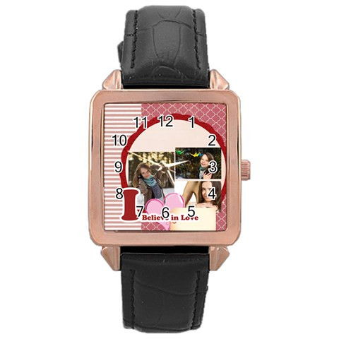 Love By Ki Ki   Rose Gold Leather Watch    F1hf0d31s8m2   Www Artscow Com Front