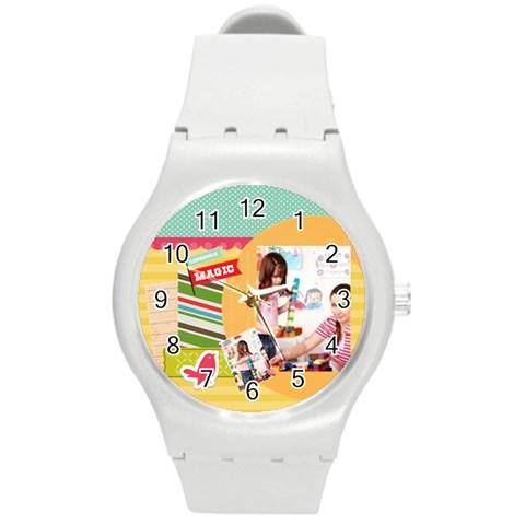 Kids By Kids   Round Plastic Sport Watch (m)   Nhsnitpr4rjq   Www Artscow Com Front