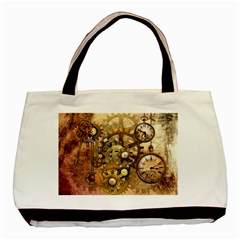 Steampunk Twin-sided Black Tote Bag by Ancello