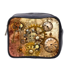 Steampunk Mini Travel Toiletry Bag (two Sides) by Ancello