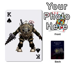 King Bioshock By Ryan Rouse   Playing Cards 54 Designs   Cwgpfrzvwli0   Www Artscow Com Front - SpadeK