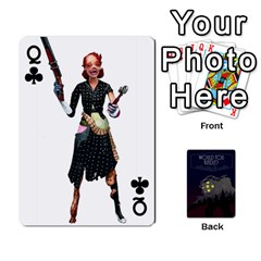Queen Bioshock By Ryan Rouse   Playing Cards 54 Designs   Cwgpfrzvwli0   Www Artscow Com Front - ClubQ