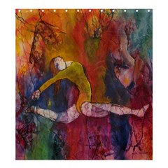 Colorful Dancer-Gymnast  Shower Curtain 66  x 72  (Large) by Contest1823010