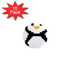 Pixel Linux Tux Penguin 1  Mini Button Magnet (10 Pack) by youshidesign