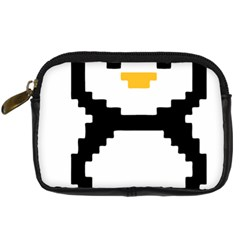 Pixel Linux Tux Penguin Digital Camera Leather Case by youshidesign
