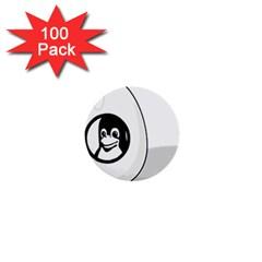 Liux Tux Egg Brand 1  Mini Button (100 Pack) by youshidesign
