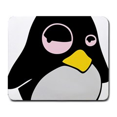 Lazy Linux Tux Penguin Large Mouse Pad (rectangle) by youshidesign