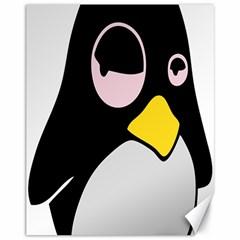 Lazy Linux Tux Penguin Canvas 11  X 14  (unframed) by youshidesign