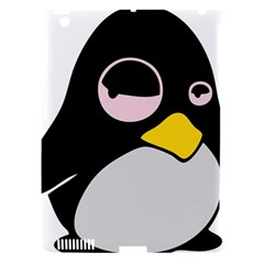 Lazy Linux Tux Penguin Apple Ipad 3/4 Hardshell Case (compatible With Smart Cover) by youshidesign