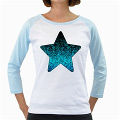 Glitter Dust 1 Women s Long Cap Sleeve T Shirt (white)  by MedusArt