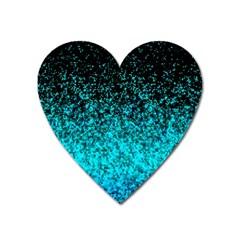 Glitter Dust 1 Magnet (heart) by MedusArt