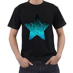 Glitter Dust 1 Mens' T Shirt (black) by MedusArt