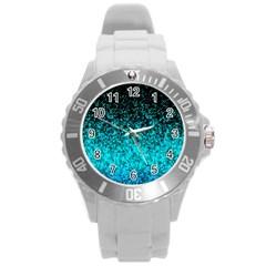 Glitter Dust 1 Plastic Sport Watch (large) by MedusArt