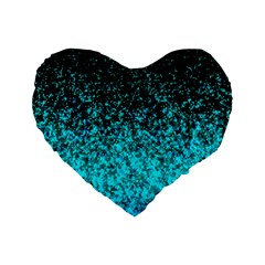 Glitter Dust 1 16  Premium Heart Shape Cushion  by MedusArt