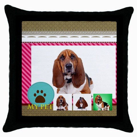 Pet By Pet    Throw Pillow Case (black)   Xxhd2indp0o8   Www Artscow Com Front