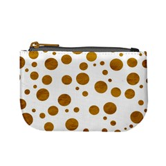 Tan Polka Dots Coin Change Purse by Colorfulart23