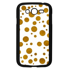 Tan Polka Dots Samsung Galaxy Grand Duos I9082 Case (black) by Colorfulart23