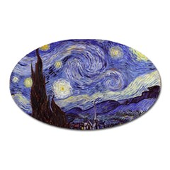 Vincent Van Gogh Starry Night Magnet (Oval) by MasterpiecesOfArt